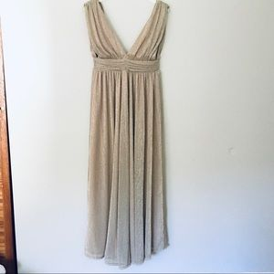 Lulu's Gold Grecian Dress